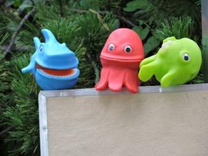 Slippery Fish puppets